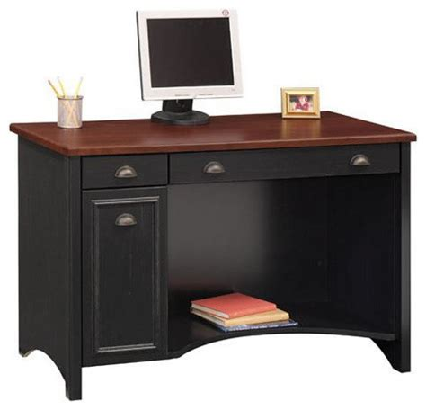 Bush Stanford 48 Quot W Wood Computer Desk In Antique Black