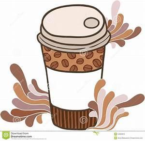 Drawn coffee cute cartoon - Pencil and in color drawn ...