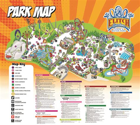 park map elitch gardens theme  water park