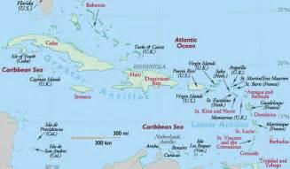 Caribbean Island Countries Map