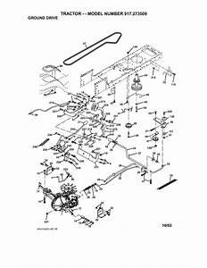 Craftsman Model 917273500 Lawn  Tractor Genuine Parts