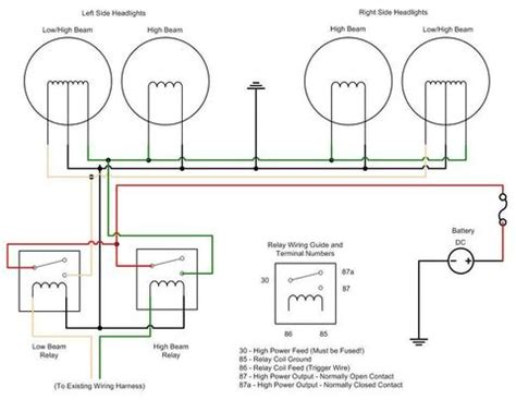No Headlight Relay Wiring Diagram headlight relay wiring diagram oldholden