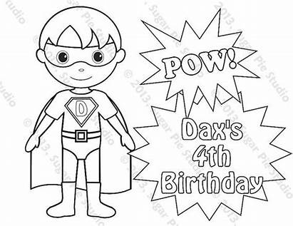 Superhero Boy Printable Coloring Pages Super Personalized