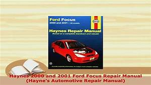 Ford Focus Ghia 2001 Owners Manual