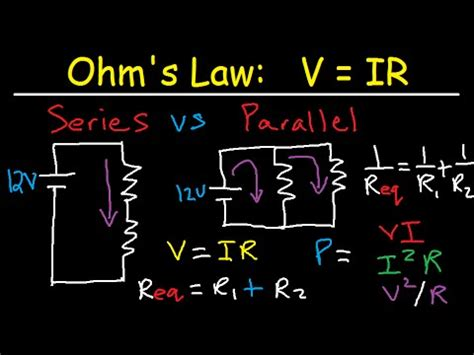 series  parallel circuits explained voltage current