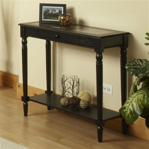 french country sofa table shop convenience concepts french country black rectangular