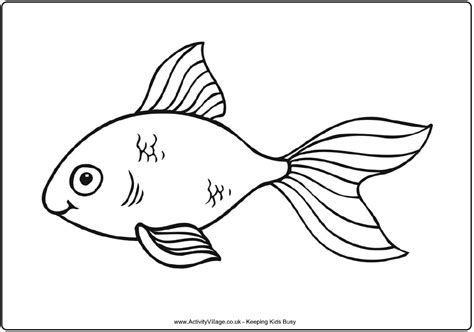fish outlines coloring home