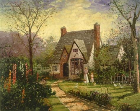 Kinkade Cottage Paintings by 40 Best Images About Painting Robert Girrard