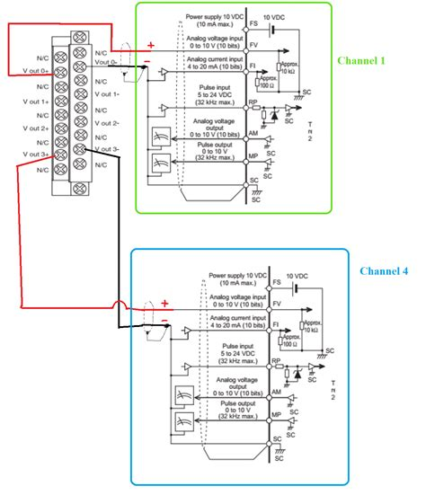 Mitsubishi Vfd Wiring Diagram by Can I Wire Up Isolated Analog Output Card 0 10v To Omron