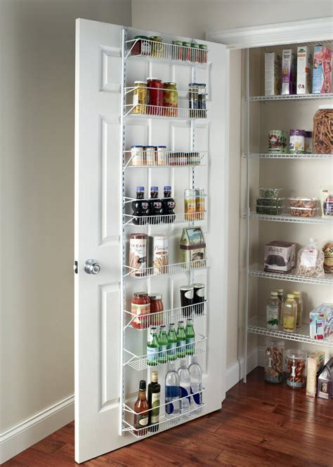 kitchen pantry organizers closetmaid adjustable 8 tier wall and door 2417