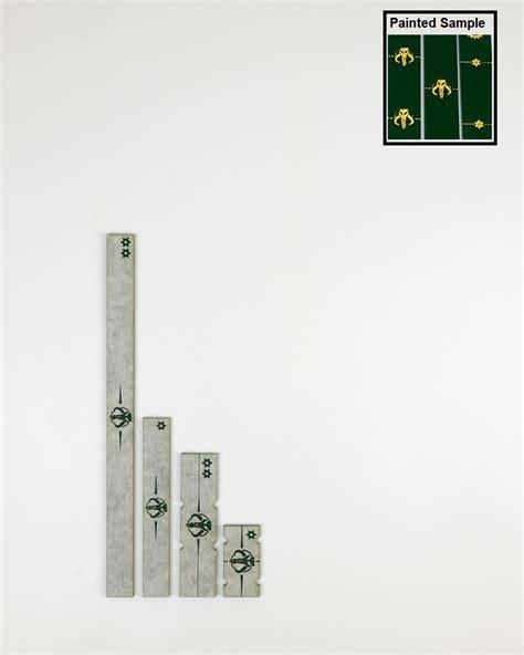 X-Wing 2nd Edition Accessory Ruler Short Mandalorian Green ...