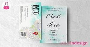 watercolor wedding suite invitation indesign template With wedding invitations template indesign