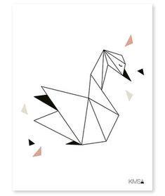 Animales Hechos Con Figuras Geométricas Colibrí Esta