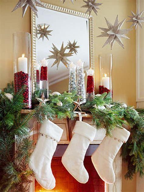48 inspiring holiday fireplace mantel decorating ideas