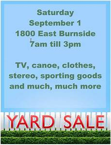 15 free yard sale flyers of great help demplates With garage sale flyer template word