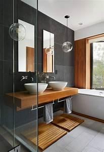 comment creer une salle de bain zen With salle de bain faience grise