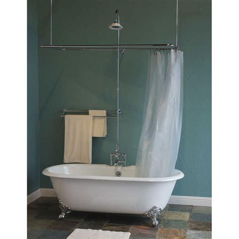 Bath Tub Set by Deck Mount Thermostatic Clawfoot Tub Shower Enclosure Set