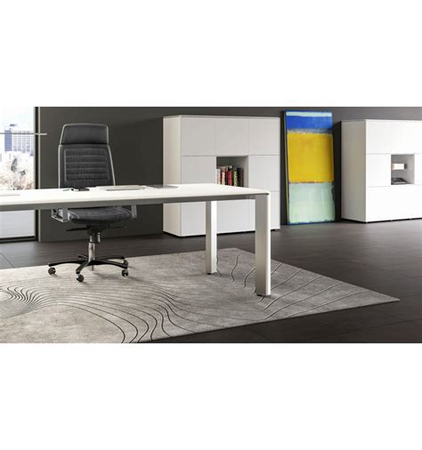 bureau de direction blanc bureau de direction iulio finition bois blanc