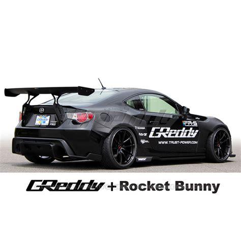 subaru brz rocket bunny greddy rocket bunny v1 aero kit with gt wing toyota 86
