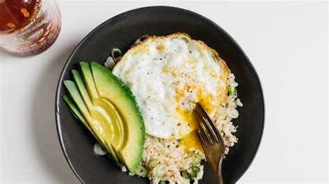 rice bowl  fried egg  avocado recipe bon appetit
