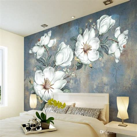custom flowers wallpaper  retro rose murals