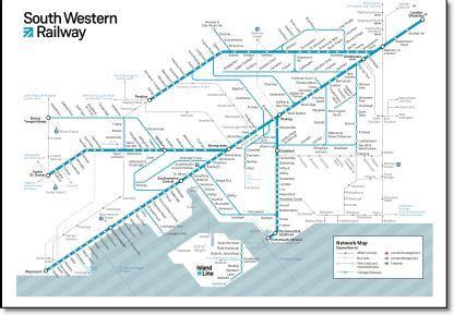 Southwestern Railway Route Map