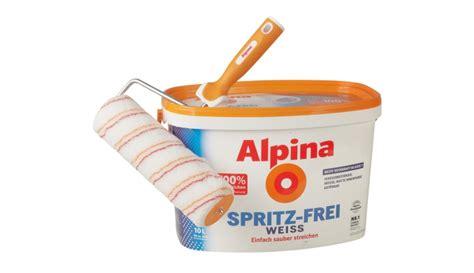 alpina spritzfrei weiss test innenfarben wand rund ums haus alpina farben spritz weiss sehr gut