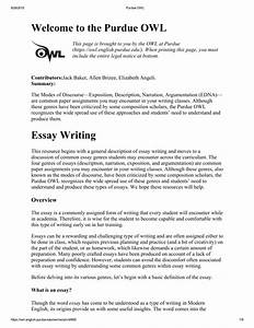 Mla Style Essay Example Best Purdue Owl Argumentative Essay Thatsnotus