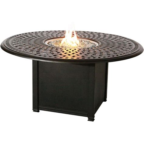 Signature 52inch Propane Fire Pit Chat Table By Darlee
