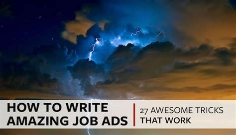 write effective job posts   awesome tricks