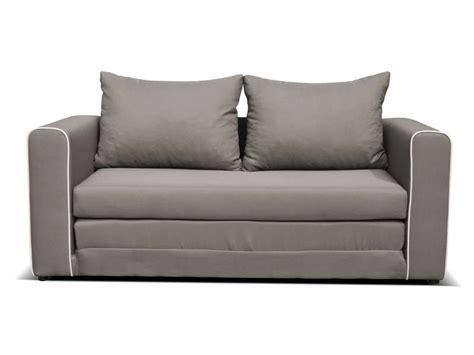 canape convertible  places en tissu laura coloris gris