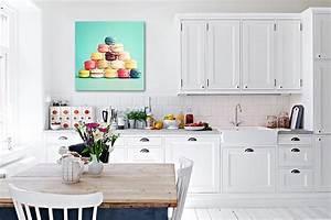 Deco Murale Blanche : quelle toile d co pour ma cuisine blanche blog izoa ~ Teatrodelosmanantiales.com Idées de Décoration