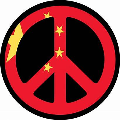 Peace China Sign Clipart Chinese Clip Flag