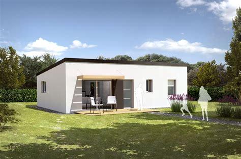 plan maison 2 chambres plain pied modèle de maison drenec t3 pour construction neuve