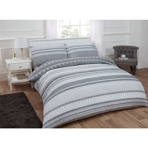 Bed Linen Outstanding Grey Striped Bedding Striped