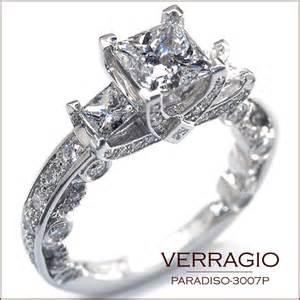 gold princess cut engagement ring paradiso 3007p engagement rings from the paradiso collection verragio news all about