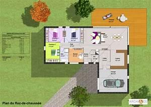 Maison Plain Pied En L : plan construction de maison en u plans maisons ~ Melissatoandfro.com Idées de Décoration