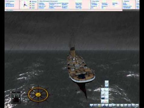 ship simulator 2008 titanic sinking fail youtube