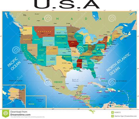 usa map stock photography image