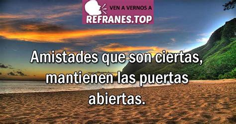 Refranes de AMISTAD con su SIGNIFICADO Bonitos • Refranes.Top