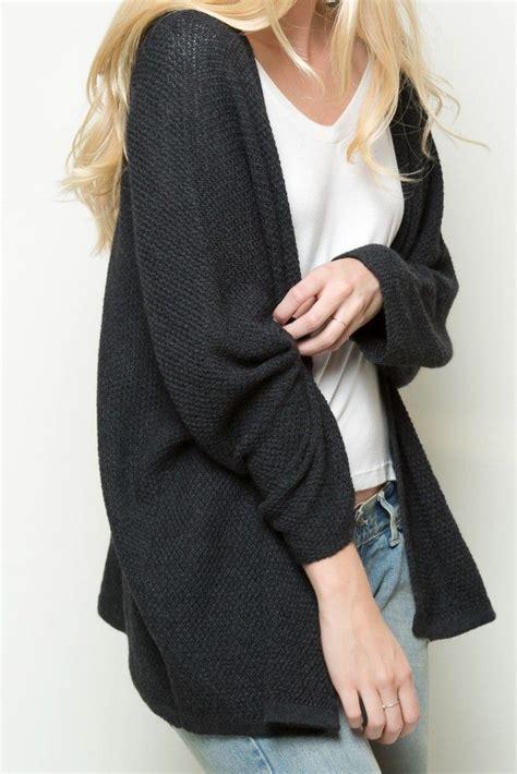 Oversized Black Cardigan Sweater Her Sweater