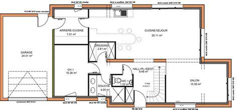 plan de maison contemporaine 4 chambres avant projets de construction de maison en loire atlantique
