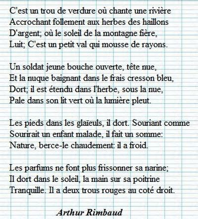 Le Dormeur Du Val Rimbaud by Le Dormeur Du Val D Angers Bribes