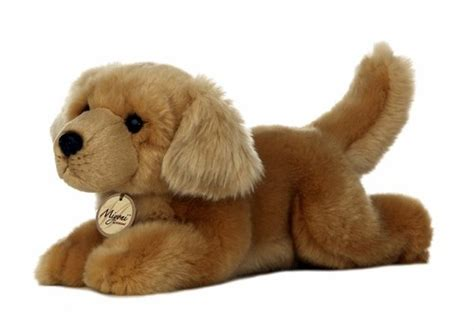aurora plush golden retriever tan puppy dog miyoni