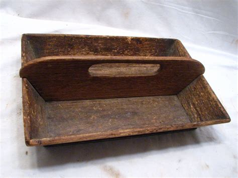 antique wood tray antique wooden primitive tray wood tote handled caddy 1302