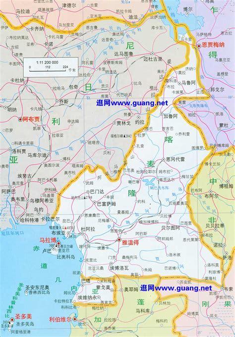 喀麦隆地图,赤道几内亚地图