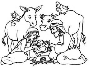 HD wallpapers coloring page of baby jesus and mary