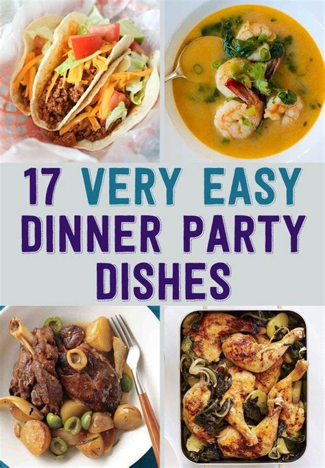 easy c dinner 17 easy recipes for a dinner party dinner home and creative ideas