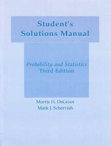 Student U0026 39 S Solutions Manual   To Accompany  U0026quot Probability And