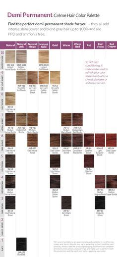 permanent color chart ion  home hair pinterest
